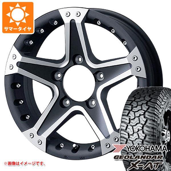 ジムニー専用 サマータイヤ ヨコハマ ジオランダー X-AT G016 195R16C 104/102Q マッドヴァンス01 タイヤホイール4本セット