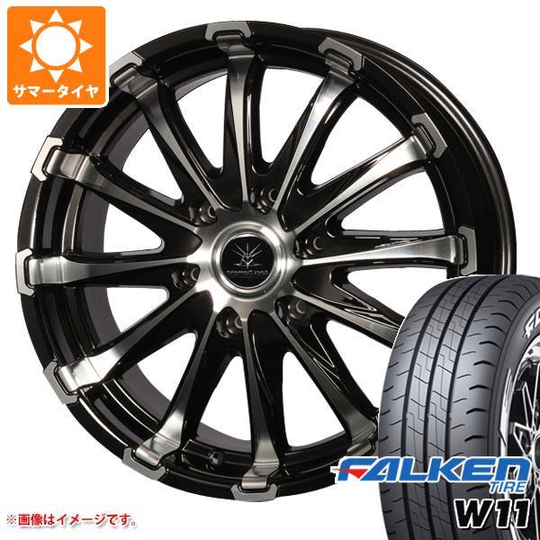 ハイエース 200系専用 サマータイヤ ファルケン W11 215/60R17C 109/107N ホワイトレター バウンティコレクション BD12 タイヤホイール4本セット