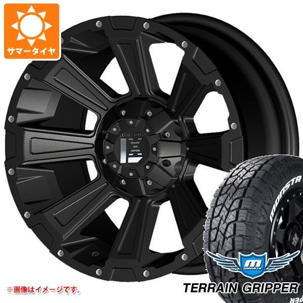サマータイヤ 265/65R17 116T XL モンスタ テレーングリッパー ホワイトレター レクセル オフロードスタイル デスロック 8.5-17 タイヤホイール4本セット