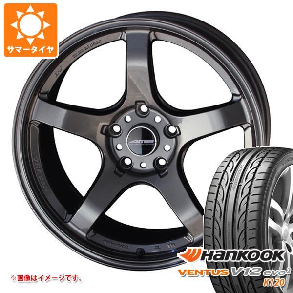 サマータイヤ 265/35R18 97Y XL ハンコック ベンタス V12evo2 K120 AME トレーサーGT-V 9.5-18 タイヤホイール4本セット