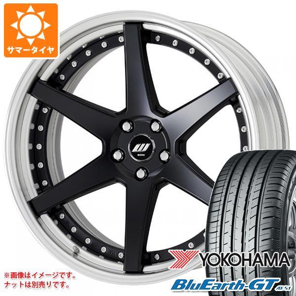サマータイヤ 245/45R19 98W ヨコハマ ブルーアースGT AE51 ワーク ジースト ST1 8.0-19 タイヤホイール4本セット