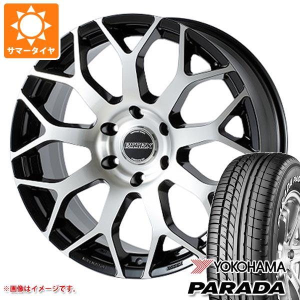ハイエース 200系専用 サマータイヤ ヨコハマ パラダ PA03 215/60R17C 109/107S ホワイトレター エセックス EM タイヤホイール4本セット
