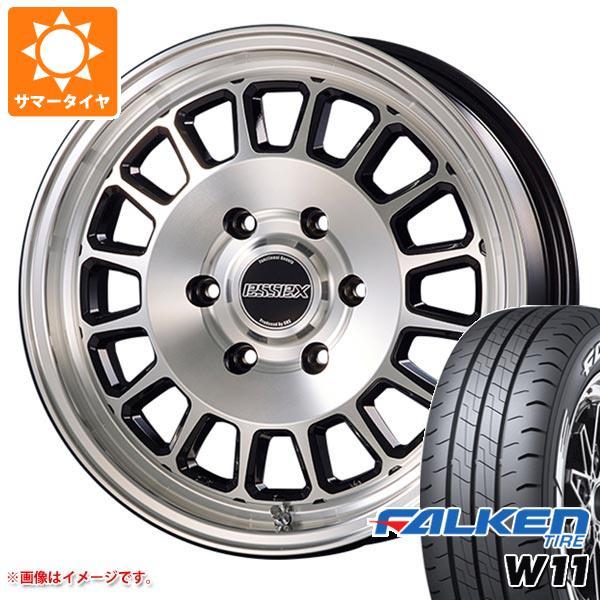 ハイエース 200系専用 サマータイヤ ファルケン W11 215/60R17C 109/107N ホワイトレター エセックス ENCD タイヤホイール4本セット