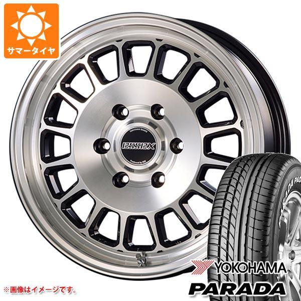ハイエース 200系専用 サマータイヤ ヨコハマ パラダ PA03 215/60R17C 109/107S ホワイトレター エセックス ENCD タイヤホイール4本セット