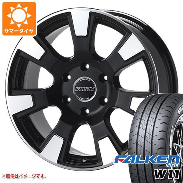 ハイエース 200系専用 サマータイヤ ファルケン W11 215/65R16C 109/107N ホワイトレター エセックス ES タイヤホイール4本セット