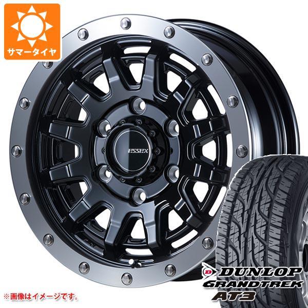 ハイエース 200系専用 サマータイヤ ダンロップ グラントレック AT3 215/70R16 100S ブラックレター エセックス EX-16 タイヤホイール4本セット