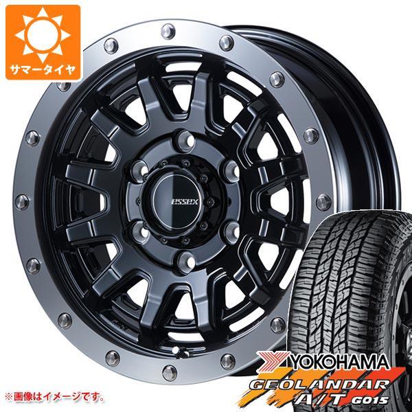 ハイエース 200系専用 サマータイヤ ヨコハマ ジオランダー A/T G015 215/70R16 100H ブラックレター エセックス EX-16 タイヤホイール4本セット