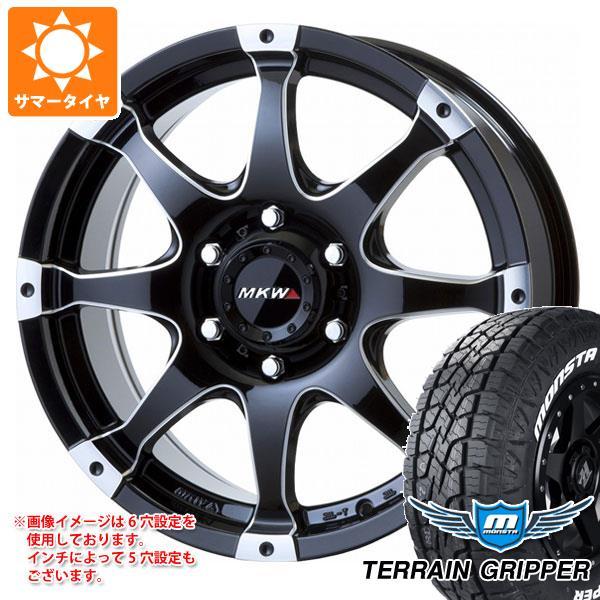 サマータイヤ 265/65R17 116T XL モンスタ テレーングリッパー ホワイトレター MK-76 MMB 8.0-17 タイヤホイール4本セット