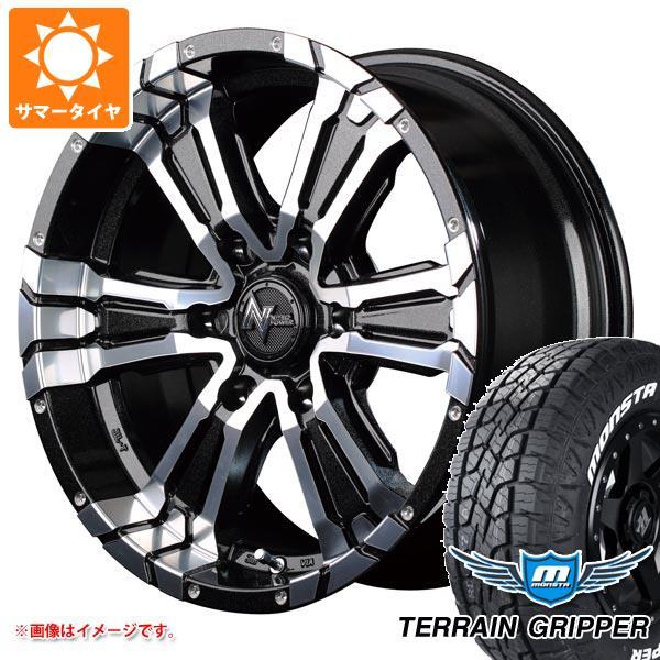 サマータイヤ 265/65R17 116T XL モンスタ テレーングリッパー ホワイトレター ナイトロパワー クロスクロウ 8.0-17 タイヤホイール4本セット