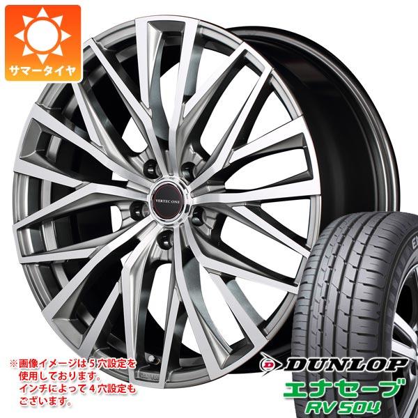 サマータイヤ 245/45R18 100W XL ダンロップ エナセーブ RV504 ヴァーテックワン アルバトロス 8.0-18 タイヤホイール4本セット
