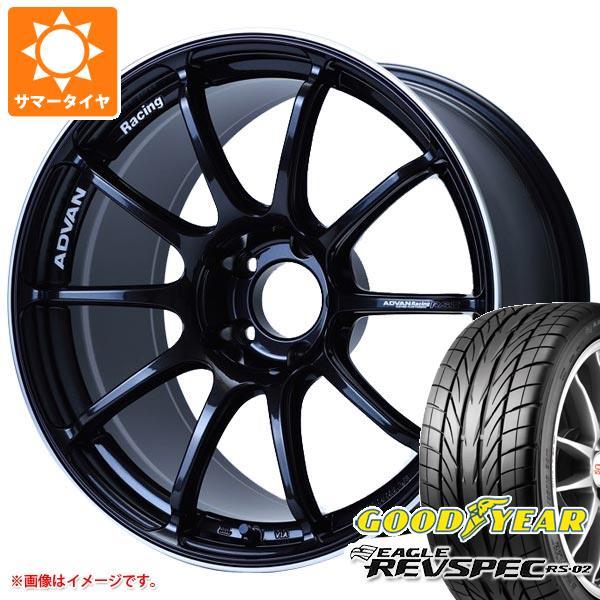 サマータイヤ 225/40R18 88W グッドイヤー イーグル レヴスペック RS-02 アドバンレーシング RS3 8.0-18 タイヤホイール4本セット