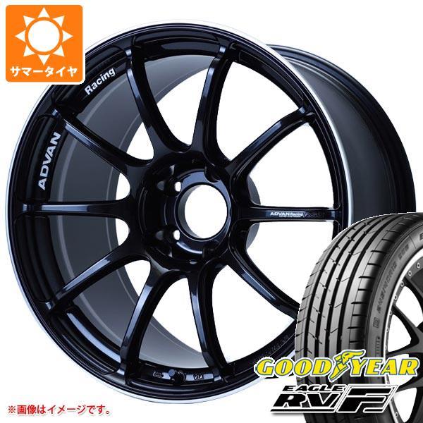 サマータイヤ 225/55R18 102V XL グッドイヤー イーグル RV-F アドバンレーシング RS3 8.0-18 タイヤホイール4本セット