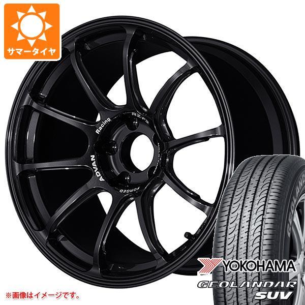 サマータイヤ 215/50R18 92V ヨコハマ ジオランダーSUV G055 アドバンレーシング RZ-F2 7.5-18 タイヤホイール4本セット