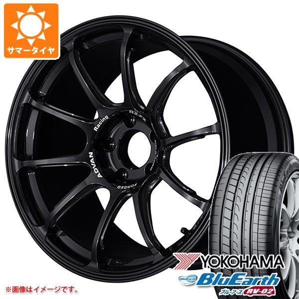 サマータイヤ 225/45R18 95W XL ヨコハマ ブルーアース RV-02 アドバンレーシング RZ-F2 8.0-18 タイヤホイール4本セット