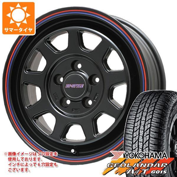 サマータイヤ 225/70R16 103H ヨコハマ ジオランダー A/T G015 ブラックレター DTスタイル 6.5-16 タイヤホイール4本セット