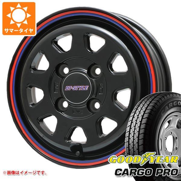 サマータイヤ 155R13 6PR グッドイヤー カーゴ プロ (155/80R13 85/84N相当) DTスタイル 4.0-13 タイヤホイール4本セット