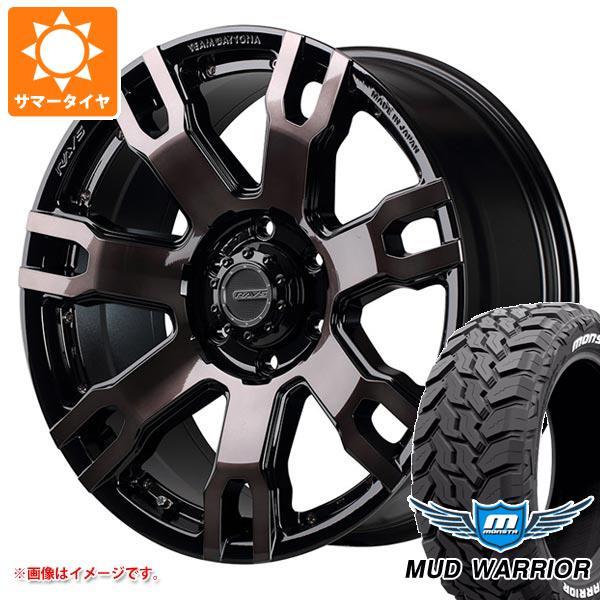 サマータイヤ 265/65R17 120/117Q モンスタ マッドウォーリアー ホワイトレター レイズ デイトナ FDX F7S 8.0-17 タイヤホイール4本セット