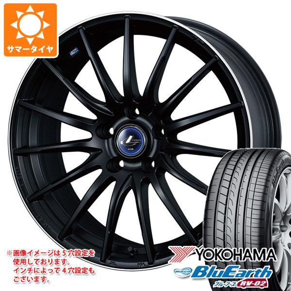 サマータイヤ 185/65R15 88H ヨコハマ ブルーアース RV-02CK レオニス ナヴィア 05 5.5-15 タイヤホイール4本セット