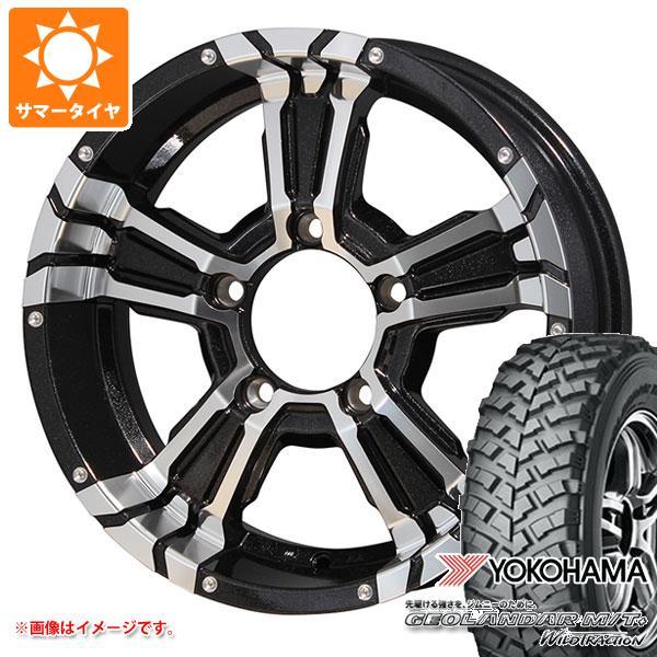 ジムニー専用 サマータイヤ ヨコハマ ジオランダー M/T+ G001J 195R16C 104/102Q ナイトロパワー クロスクロウ 5.5-16 タイヤホイール4本セット