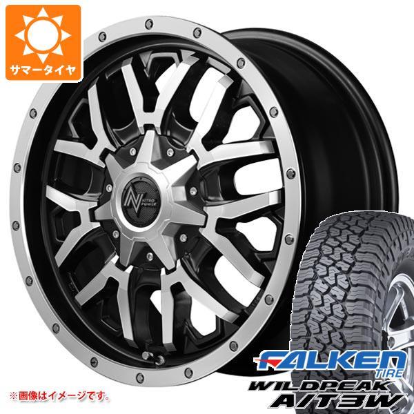 サマータイヤ 225/75R16 115T/112Q ファルケン ワイルドピーク A/T3W ナイトロパワー グレネード 7.0-16 タイヤホイール4本セット