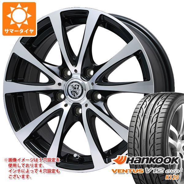 サマータイヤ 215/45R18 93Y XL ハンコック ベンタス V12evo2 K120 TRG-BAHN XP 7.5-18 タイヤホイール4本セット