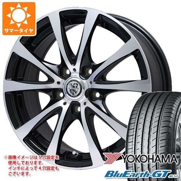 サマータイヤ 205/55R16 91V ヨコハマ ブルーアースGT AE51 TRG-BAHN XP 6.5-16 タイヤホイール4本セット
