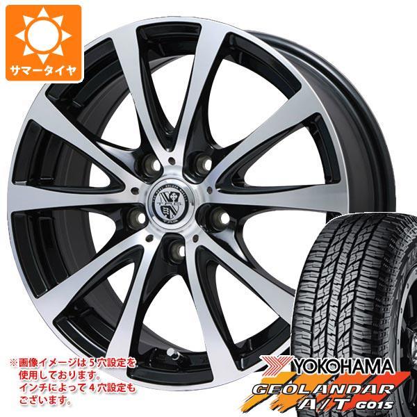 サマータイヤ 235/55R18 104H XL ヨコハマ ジオランダー A/T G015 ブラックレター TRG-BAHN XP 7.5-18 タイヤホイール4本セット