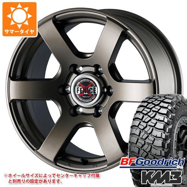 サマータイヤ 285/75R16 126/123Q BFグッドリッチ マッドテレーン T/A KM3 ブラックレター ドゥオール フェニーチェ クロス XC6 MBR 8.0-16 タイヤホイール4本セット