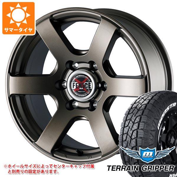 サマータイヤ 285/70R17 121/118R モンスタ テレーングリッパー ホワイトレター ドゥオール フェニーチェ クロス XC6 MBR 8.0-17 タイヤホイール4本セット