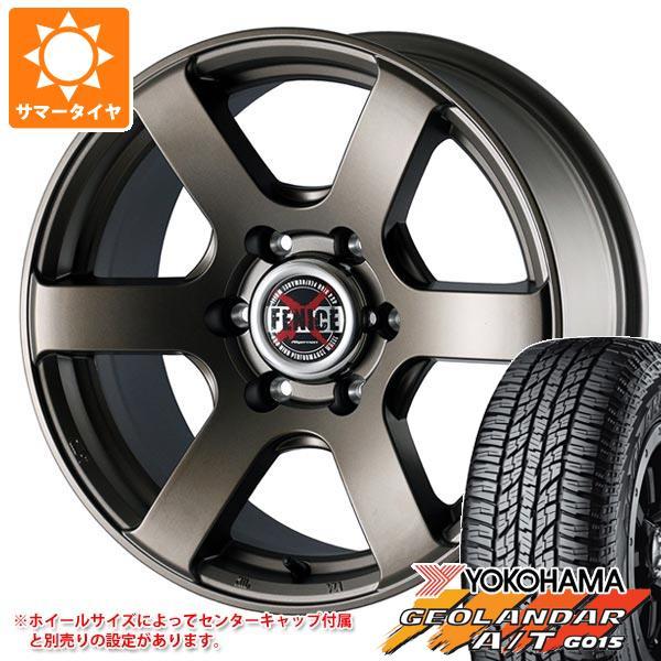 サマータイヤ 225/60R17 99H ヨコハマ ジオランダー A/T G015 ブラックレター ドゥオール フェニーチェ クロス XC6 MBR 7.5-17 タイヤホイール4本セット