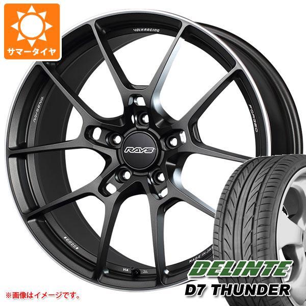 サマータイヤ 215/35R19 85W XL デリンテ D7 サンダー レイズ ボルクレーシング G025 7.5-19 タイヤホイール4本セット