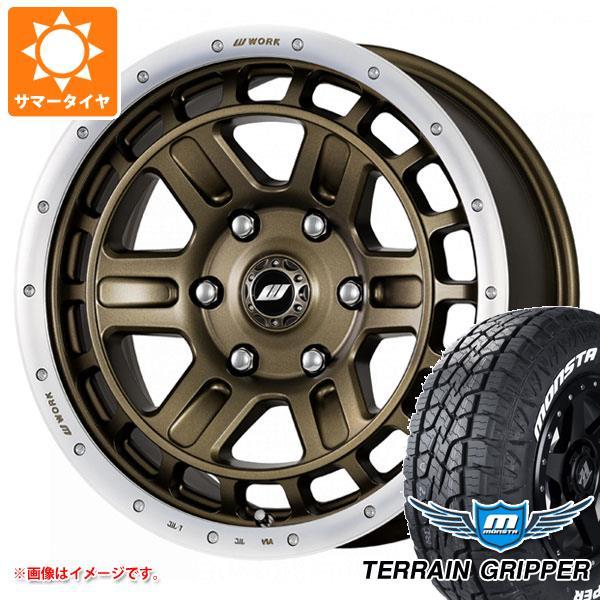 サマータイヤ 265/65R17 116T XL モンスタ テレーングリッパー ホワイトレター クラッグ T-グラビック 2 8.0-17 タイヤホイール4本セット