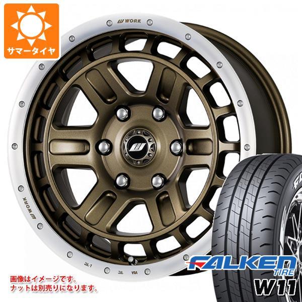 ハイエース 200系専用 サマータイヤ ファルケン W11 215/65R16C 109/107N ホワイトレター クラッグ T-グラビック 2 タイヤホイール4本セット