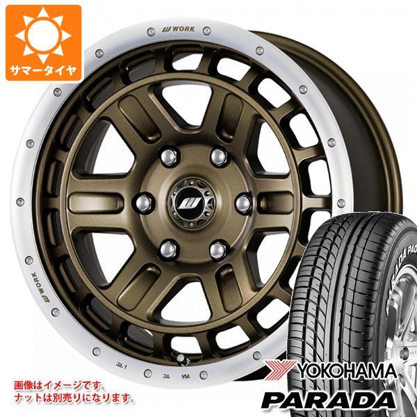 ハイエース 200系専用 サマータイヤ ヨコハマ パラダ PA03 215/65R16C 109/107S ホワイトレター クラッグ T-グラビック 2 タイヤホイール4本セット