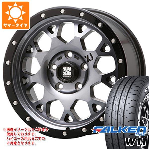 ハイエース 200系専用 サマータイヤ ファルケン W11 215/65R16C 109/107N ホワイトレター エクストリームJ XJ04 GS タイヤホイール4本セット