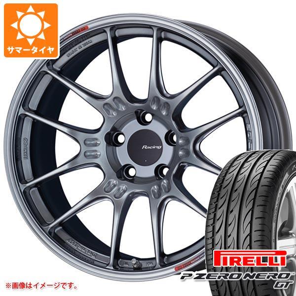 正規品 サマータイヤ 225/40R18 (92Y) XL ピレリ P ゼロ ネロ GT ENKEI エンケイ レーシング GTC02 7.5-18 タイヤホイール4本セット