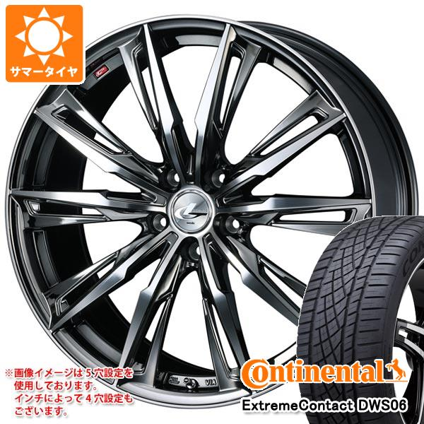 サマータイヤ 235/60R18 107W XL コンチネンタル エクストリームコンタクト DWS06 レオニス GX BMCミラーカット 8.0-18 タイヤホイール4本セット