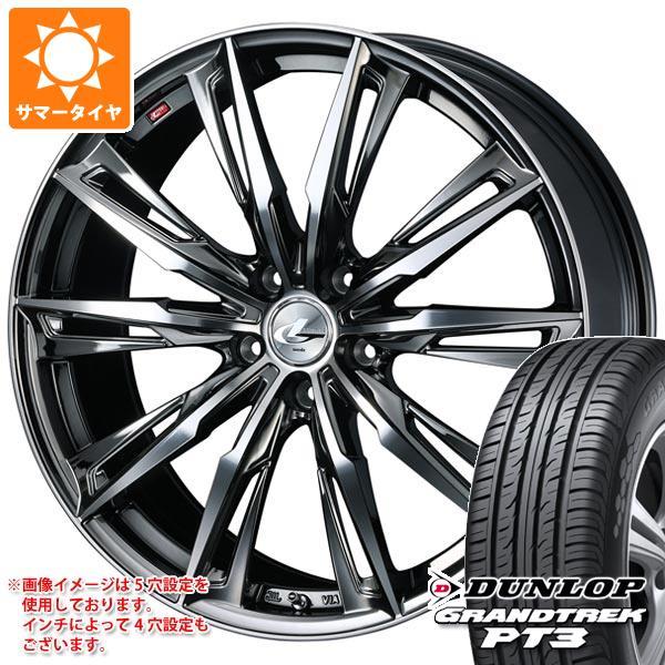サマータイヤ 235/60R18 107V XL ダンロップ グラントレック PT3 レオニス GX BMCミラーカット 8.0-18 タイヤホイール4本セット
