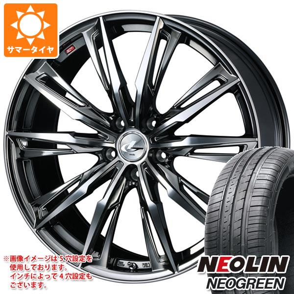 サマータイヤ 165/55R14 72H ネオリン ネオグリーン レオニス GX BMCミラーカット 4.5-14 タイヤホイール4本セット