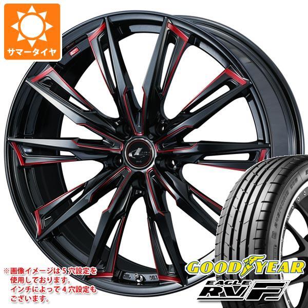 サマータイヤ 215/50R18 92V グッドイヤー イーグル RV-F レオニス GX BK/SC レッド 7.0-18 タイヤホイール4本セット