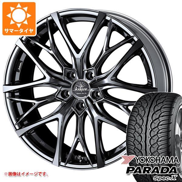 サマータイヤ 235/55R20 102V ヨコハマ パラダ スペック-X PA02 クレンツェ ウィーバル 100エボ 8.5-20 タイヤホイール4本セット
