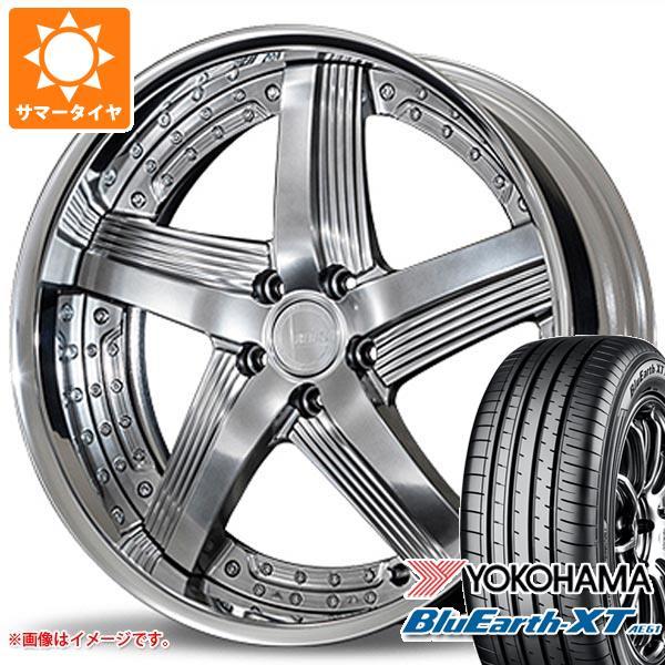 サマータイヤ 235/55R20 102V ヨコハマ ブルーアースXT AE61 アミスタット ライエン C010 8.0-20 タイヤホイール4本セット