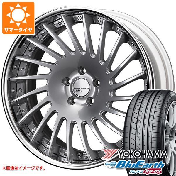 サマータイヤ 245/45R19 98W ヨコハマ ブルーアース RV-02 SSR エグゼキューター CV05 8.5-19 タイヤホイール4本セット