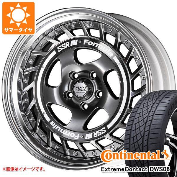 サマータイヤ 235/55R19 105W XL コンチネンタル エクストリームコンタクト DWS06 SSR フォーミュラ エアロスポーク 8.0-19 タイヤホイール4本セット