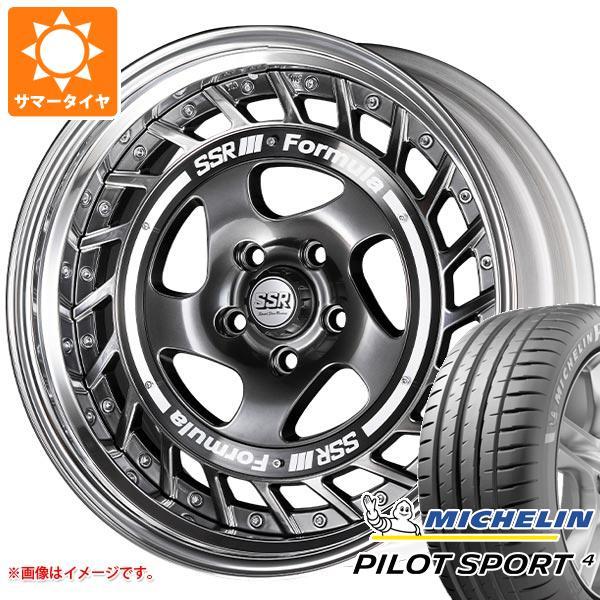 正規品 サマータイヤ 225/55R19 103Y XL ミシュラン パイロットスポーツ4 NF0 SSR フォーミュラ エアロスポーク 8.0-19 タイヤホイール4本セット