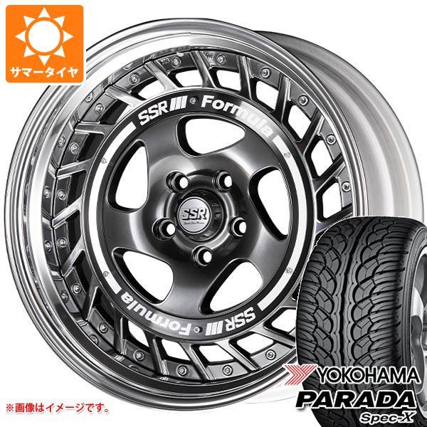 サマータイヤ 235/60R18 103V ヨコハマ パラダ スペック-X PA02 SSR フォーミュラ エアロスポーク 8.0-18 タイヤホイール4本セット
