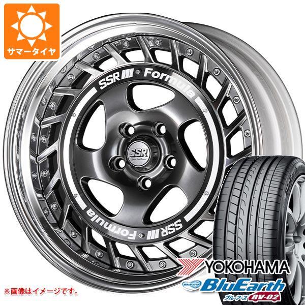 サマータイヤ 235/60R18 103W ヨコハマ ブルーアース RV-02 SSR フォーミュラ エアロスポーク 8.0-18 タイヤホイール4本セット