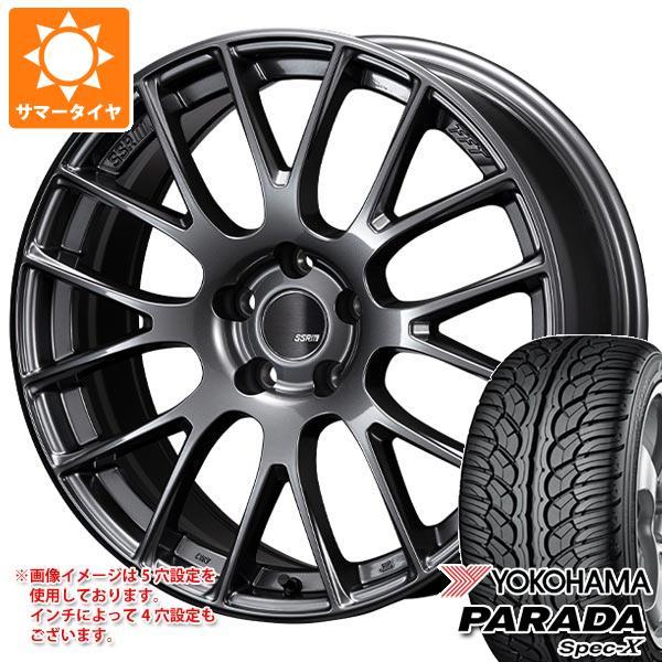 サマータイヤ 235/55R18 100V ヨコハマ パラダ スペック-X PA02 SSR GTV04 7.5-18 タイヤホイール4本セット