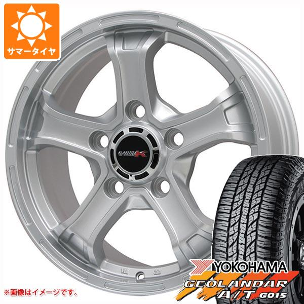 ランドクルーザー 200系専用 サマータイヤ ヨコハマ ジオランダー A/T G015 285/60R18 116H ブラックレター B マッド K 8.0-18 タイヤホイール4本セット