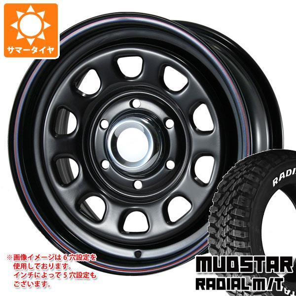 キャラバン NV350専用 サマータイヤ マッドスター ラジアル M/T 215/70R16 100T ホワイトレター デイトナ SS ブラック 6.5-16 タイヤホイール4本セット